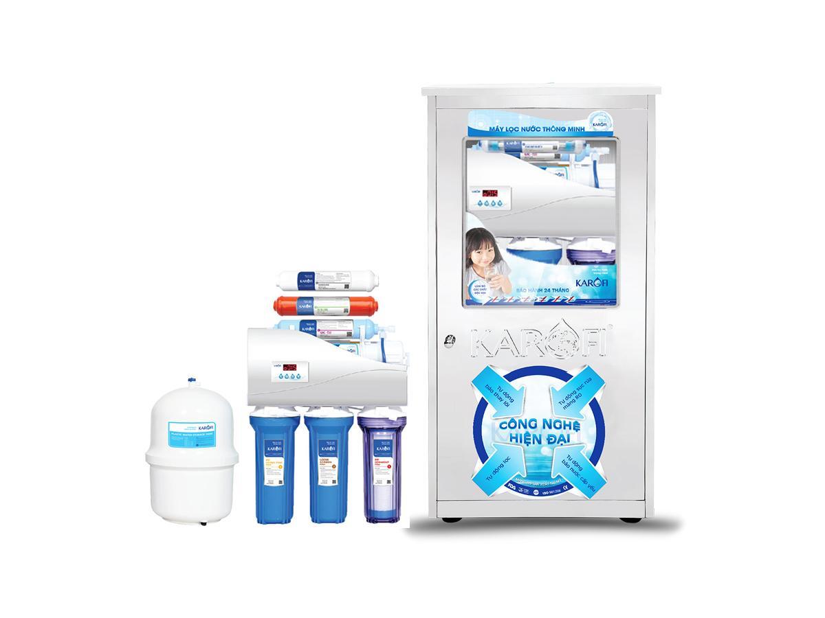 Máy lọc nước Karofi thông minh 6 cấp lọc tủ Inox