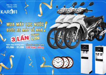 Khuyến mại tặng xe máy khi mua máy lọc nước Karofi