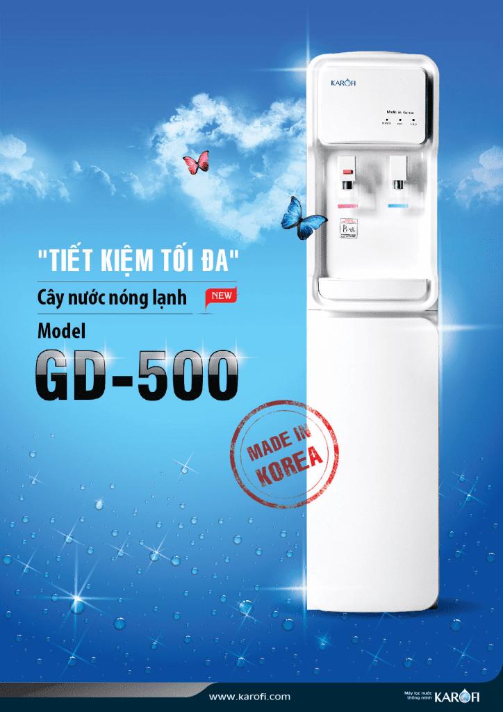 Cây nước nóng lạnh Karofi GD-500 tiết kiệm tối đa