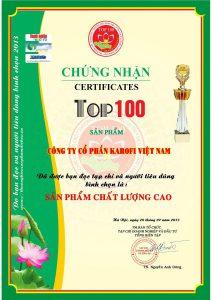 Top 100 sản phẩm chất lượng cao 2013