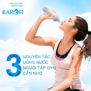 3 nguyên tắc uống nước với người tập gym