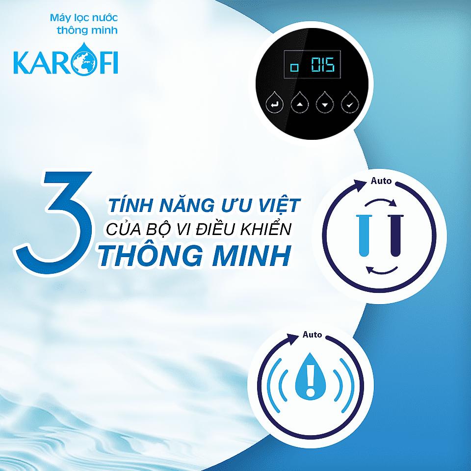 3 tính năng thông minh của bộ vi điều khiển máy lọc nước Karofi