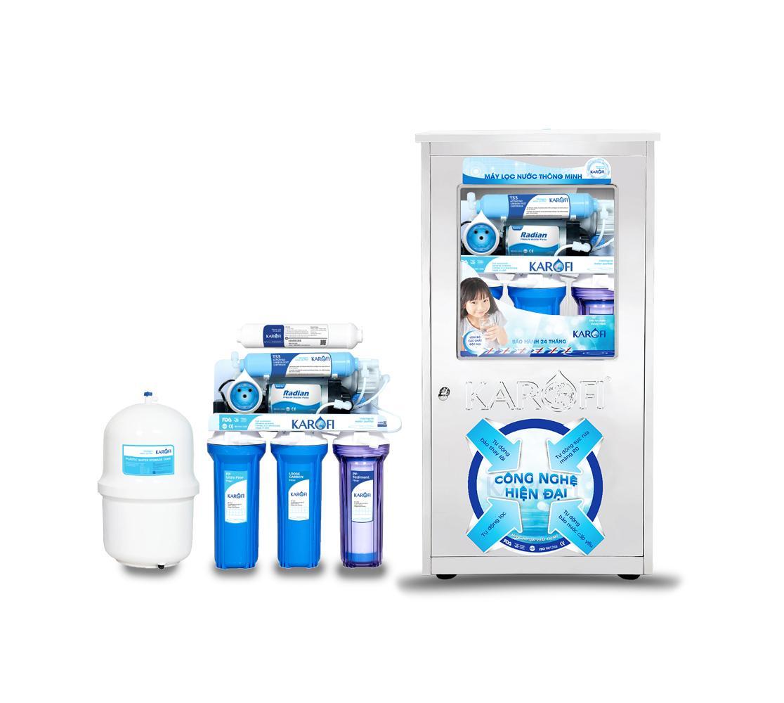 Máy lọc nước sRO 6 cấp lọc tủ Inox