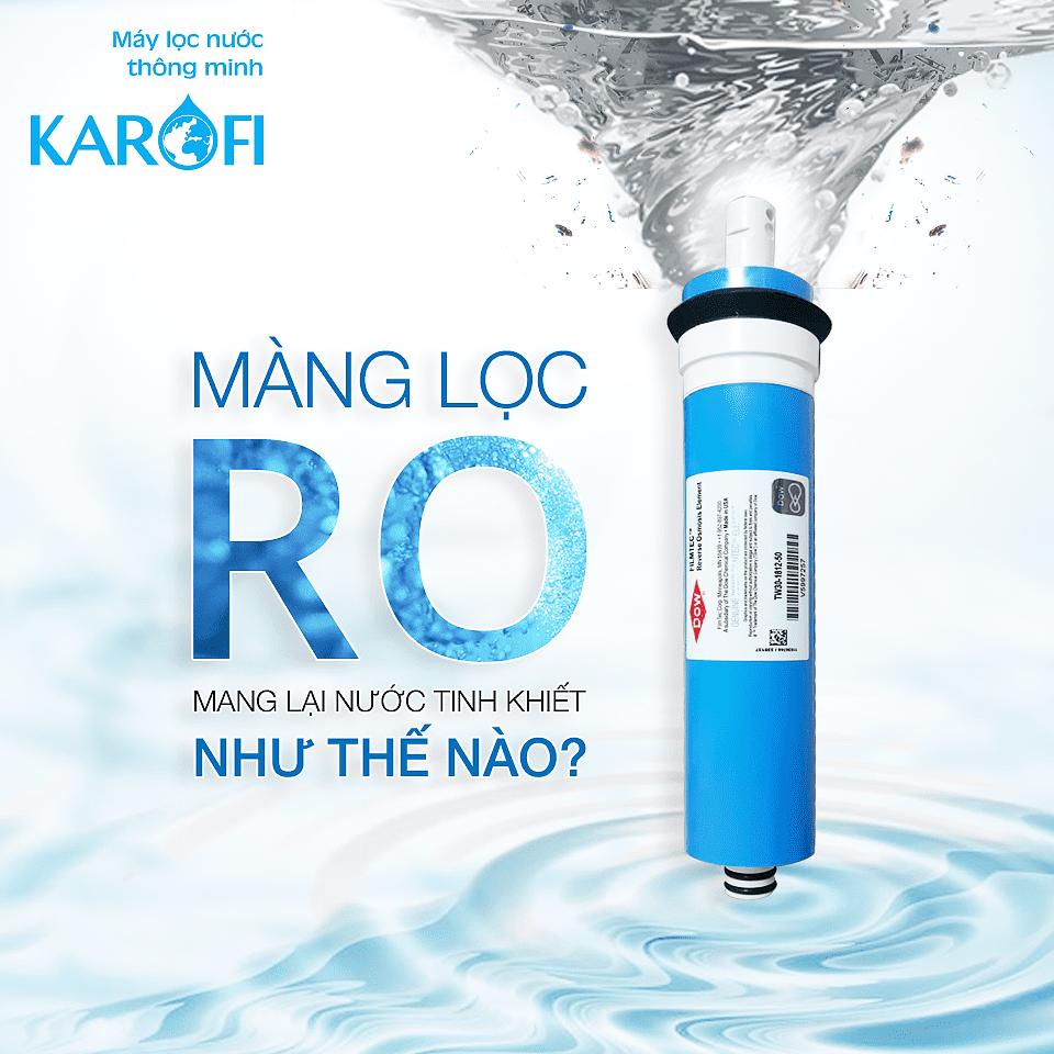 Màng lọc RO mang lại nước tinh khiết thế nào