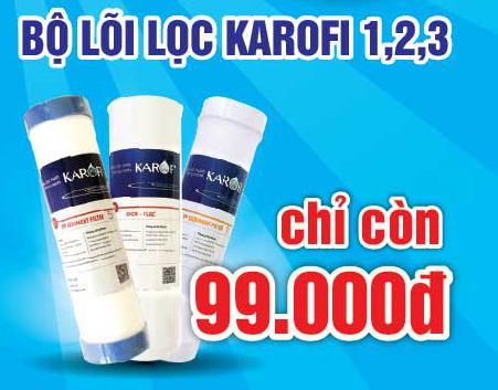 Mua bộ lõi lọc karofi giá chỉ 99k