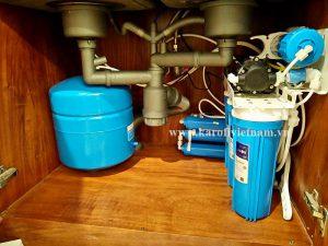 Máy lọc nước Karofi lắp dưới gầm chậu rửa