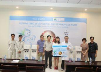 Karofi tặng 36 cây nóng lạnh tích hợp máy lọc nước cho Bệnh viện