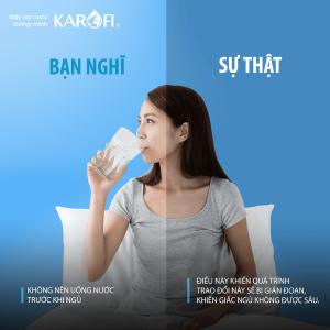 Không uống nhiều nước trước khi đi ngủ