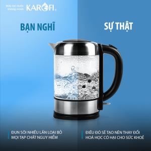 Không nên uống nước đun sôi nhiều lần