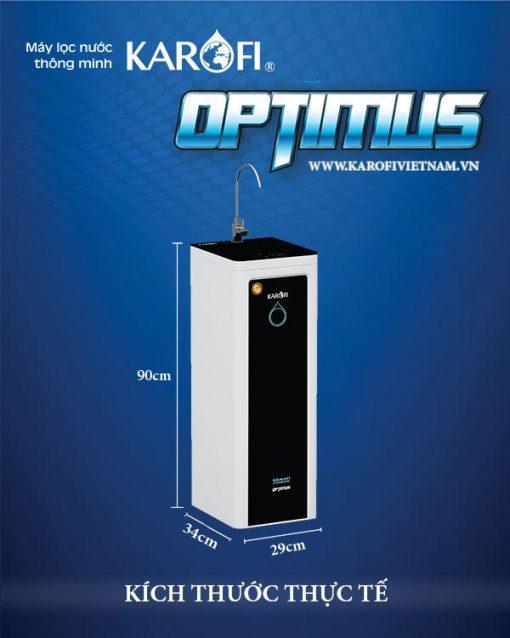 Kích thước Máy lọc nước Karofi Optimus mới