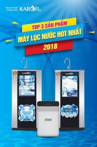 Top 3 máy lọc nước Karofi giá tốt nhất 2018
