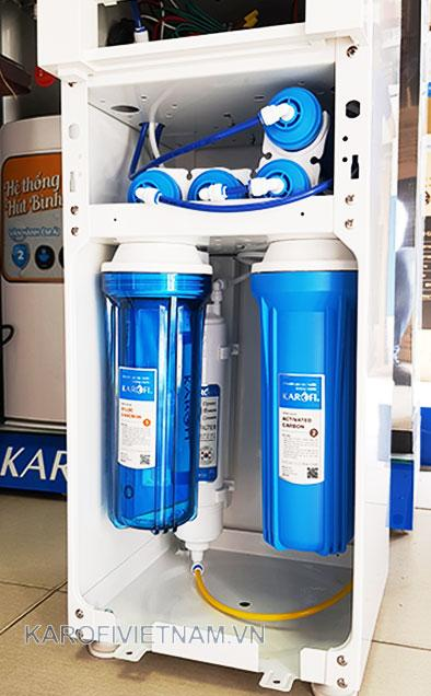 Hệ thống các lõi lọc bên trong máy lọc nước K-i238