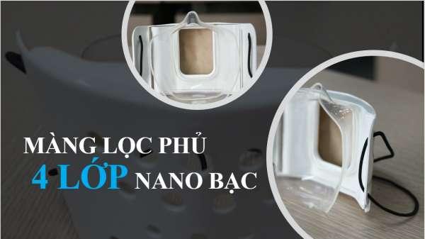 Khẩu trang siêu kín Nano Bạc Karofi