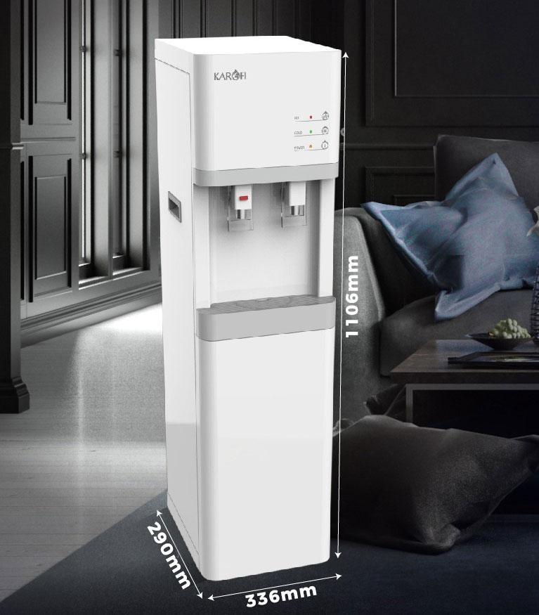Kích thước Cây nước nóng lạnh Karofi HCV200