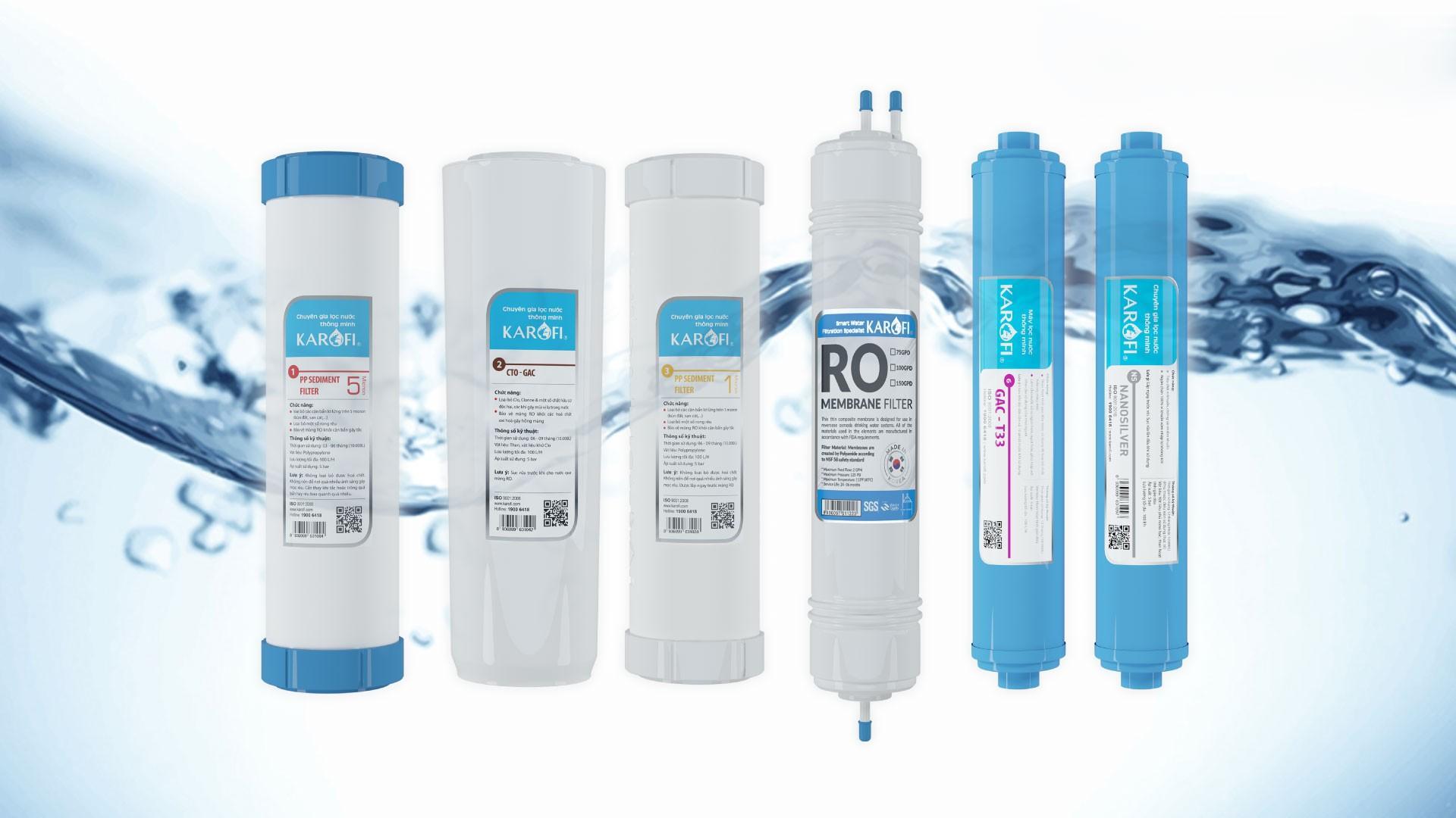 Cây lọc nước nóng lạnh Karofi HCV362