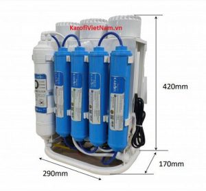 Kích thước máy lọc nước Karofi Slim S-s038