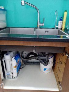 Hình ảnh bao quát sau khi lắp đặt máy lọc nước Karofi S-s038
