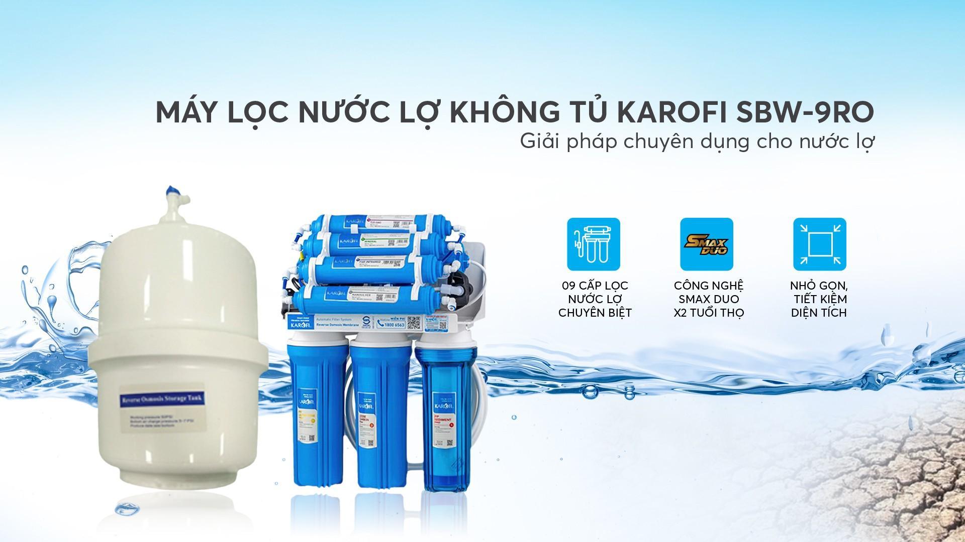 Máy lọc nước lợ không tủ Karofi SBW-9RO