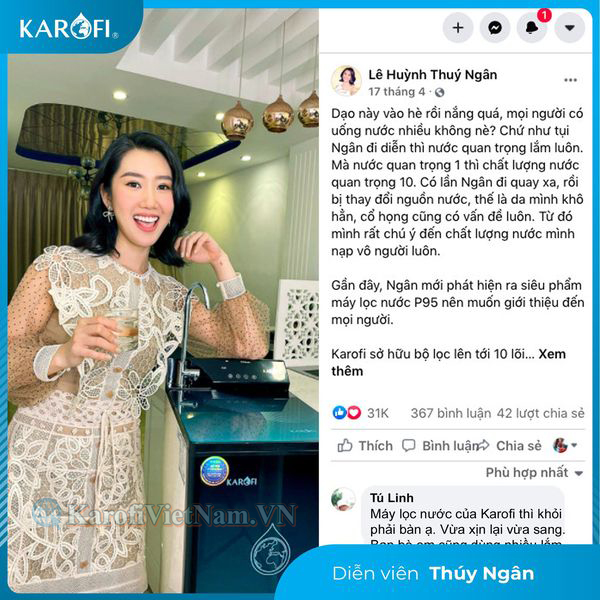 May Loc Nuoc Karofi P95 Thuy Ngan