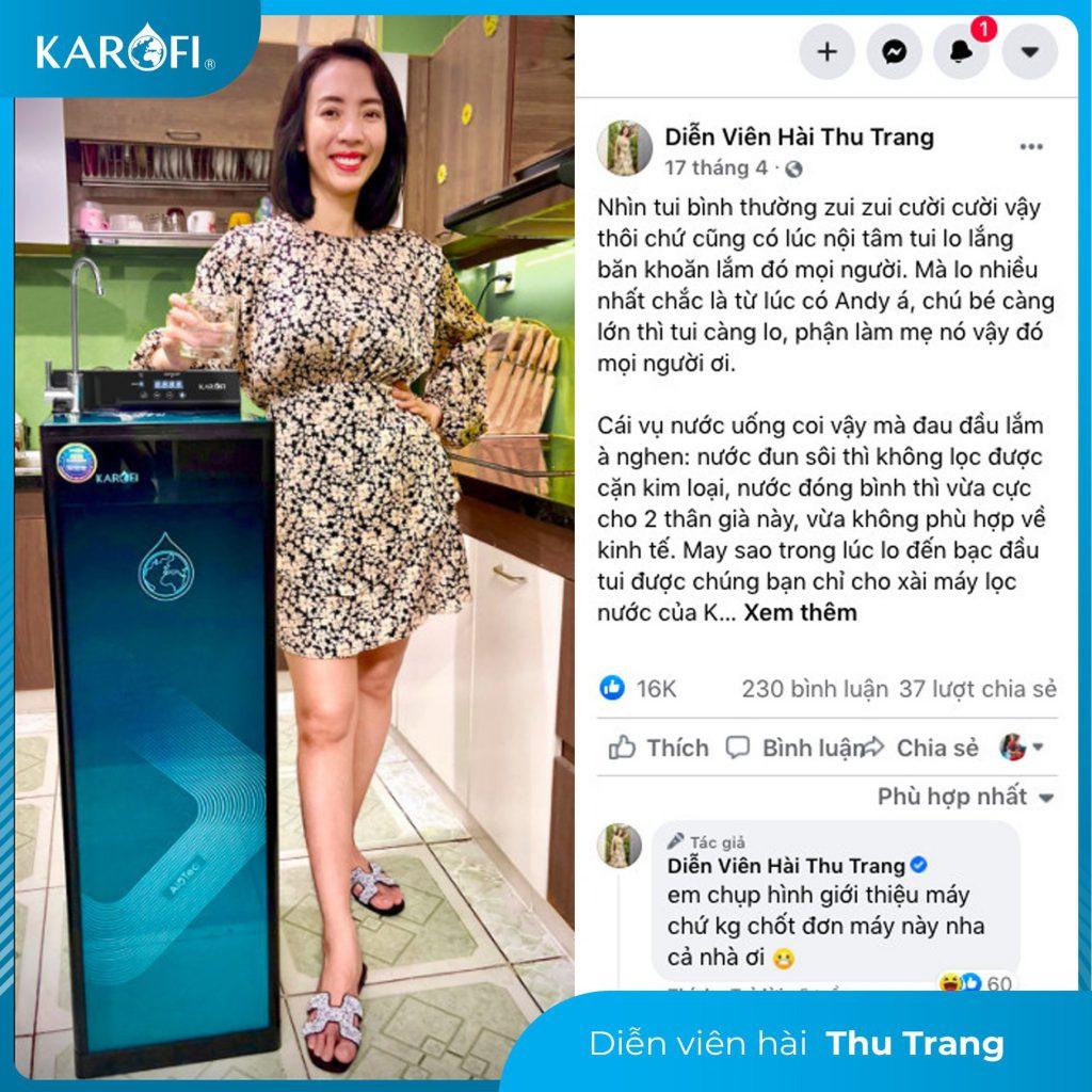 Diễn viên Thu Trang - Một bà mẹ luôn lắng nghe và chăm lo cho chồng con