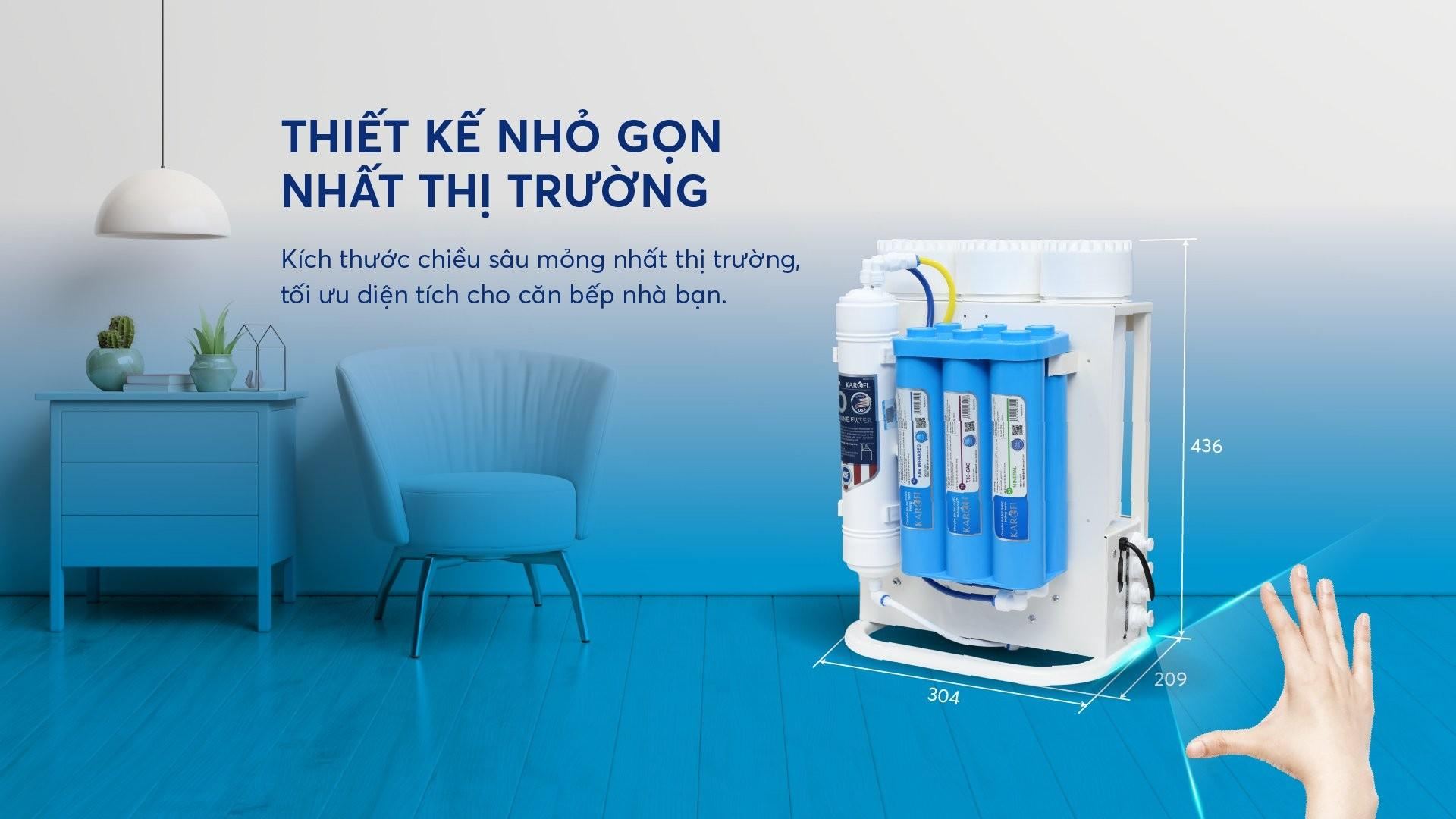 Máy lọc nước Karofi KAQ-U05 - 10 lõi Hydrogen