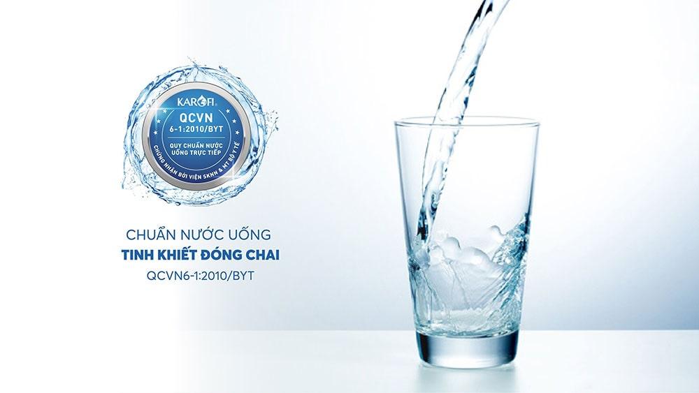 Nước sau lọc đạt chuẩn quốc gia nước uống trực tiếp QCVN6-1:2010 BYT