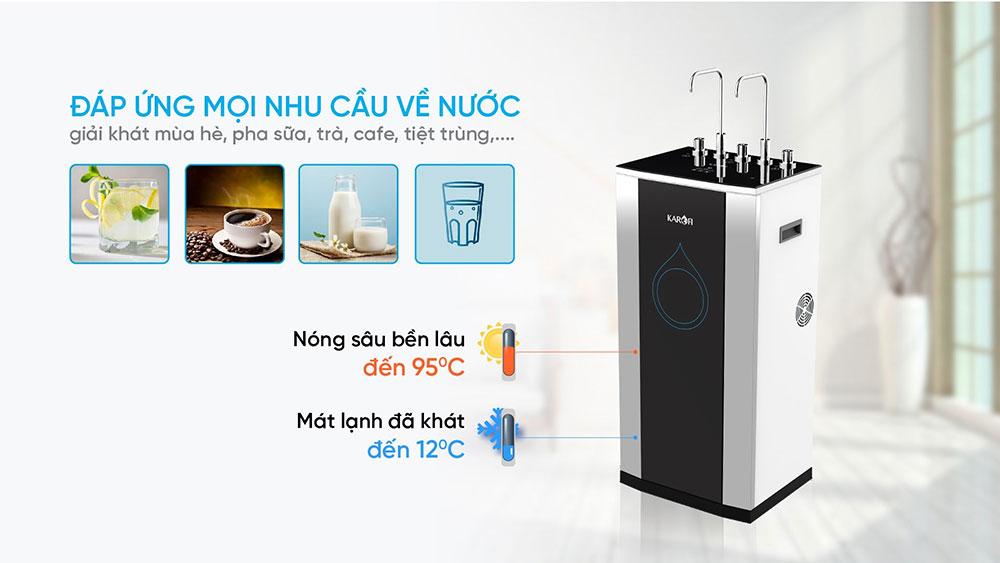 Máy lọc nước uống trực tiếp có nóng lạnh siêu tiện lợi