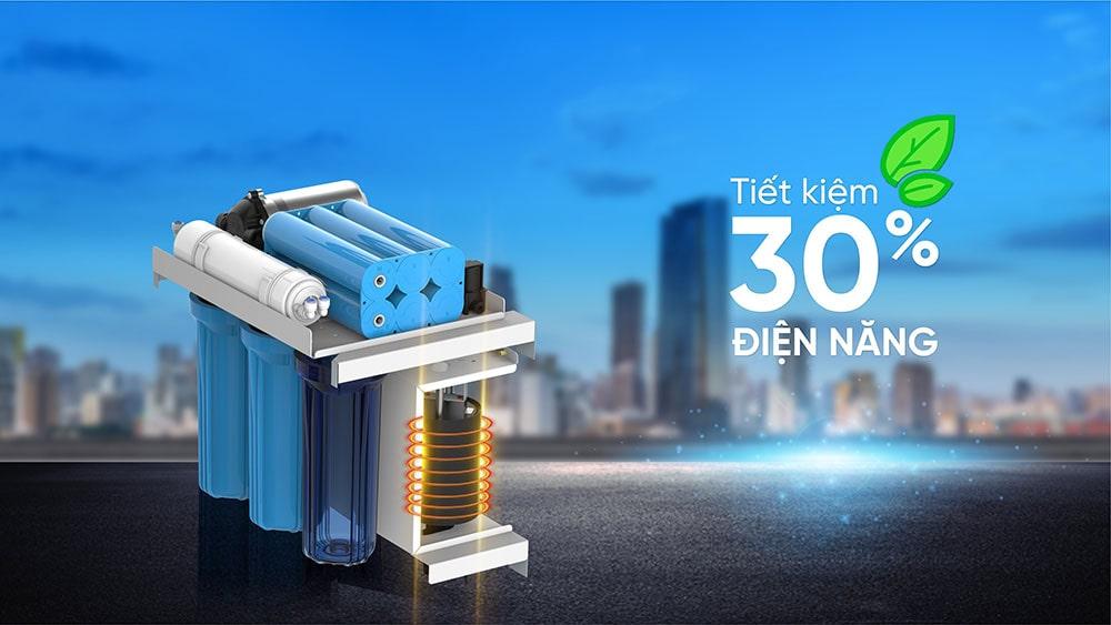 Nhờ công nghệ bảo vệ nhiệt đa lớp, Karofi KAD - D50 giúp tiết kiệm điện năng lên tới 30% so với các dòng máy khác.