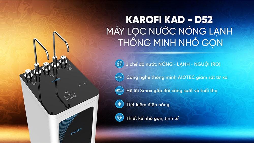 Tính năng máy lọc nước nóng lạnh Karofi KAQ-D52