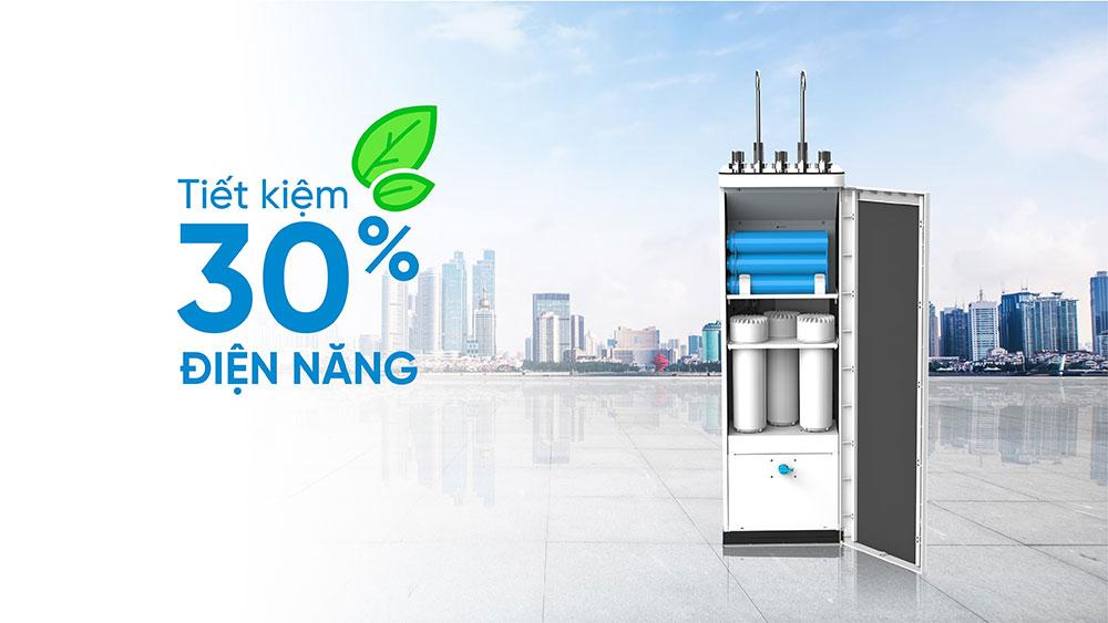 Hệ thống 10 lõi lọc mạnh mẽ hoàn toàn mới và tiết kiệm điện năng tới 30%