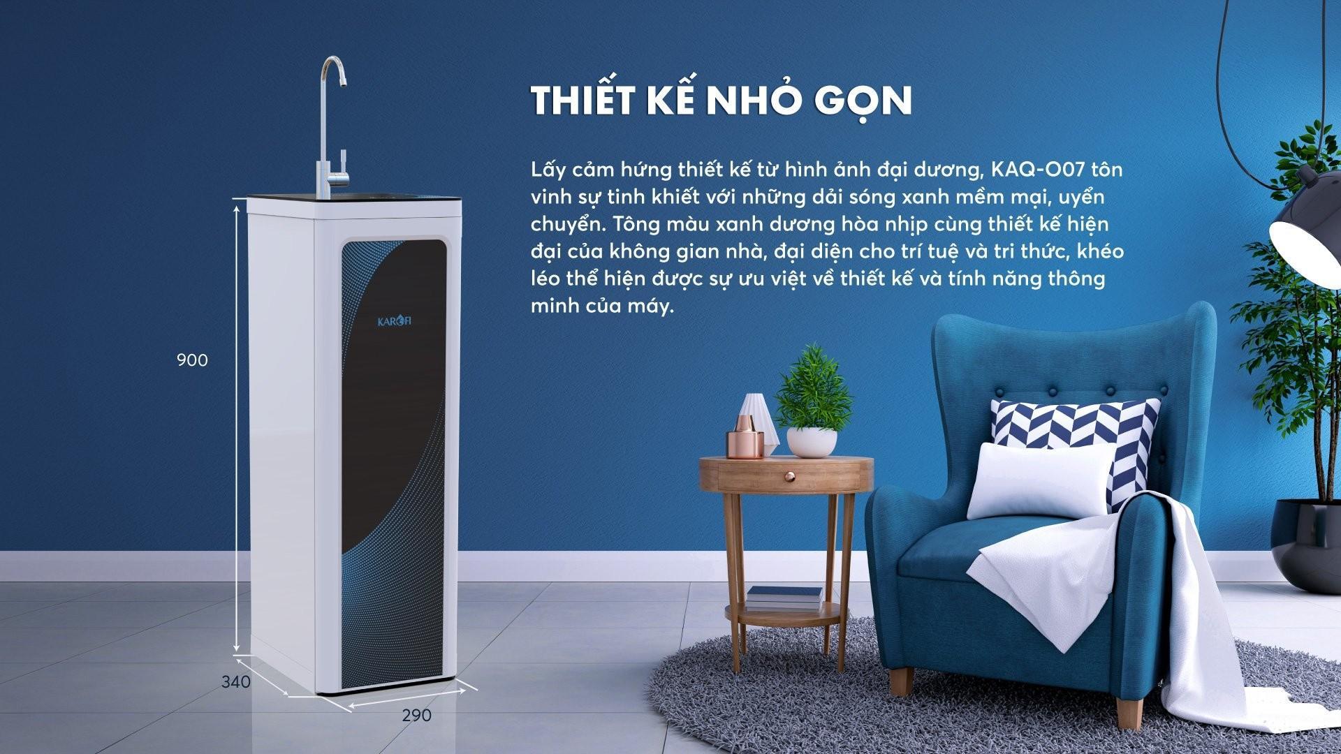 Máy lọc nước Karofi KAQ-O07 - 10 lõi Hydrogen có tủ