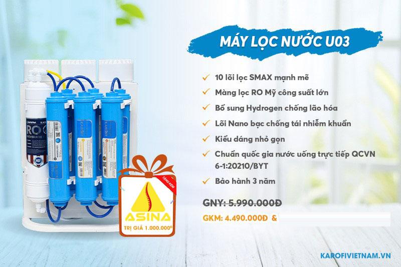 Máy lọc nước Karofi KAQ-U03