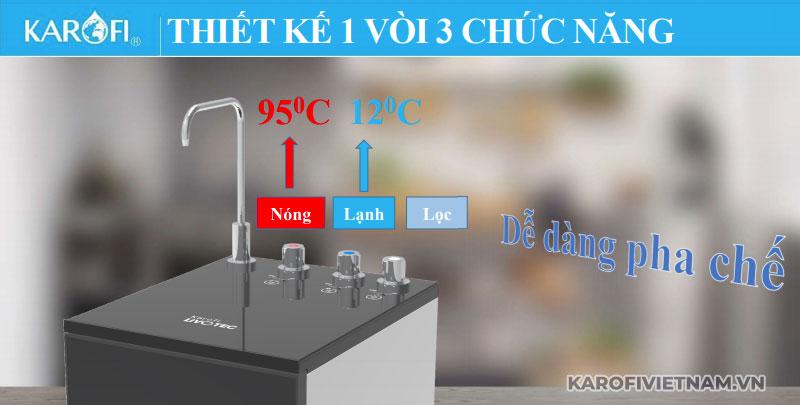 May Loc Nuoc Nong Lanh Nguoi Karofi Livotec 611 3chucnang