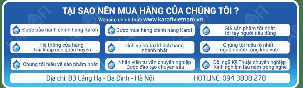 Lõi lọc nước Karofi số 1 - Lõi PP 5 Micron - Hàng chính hãng