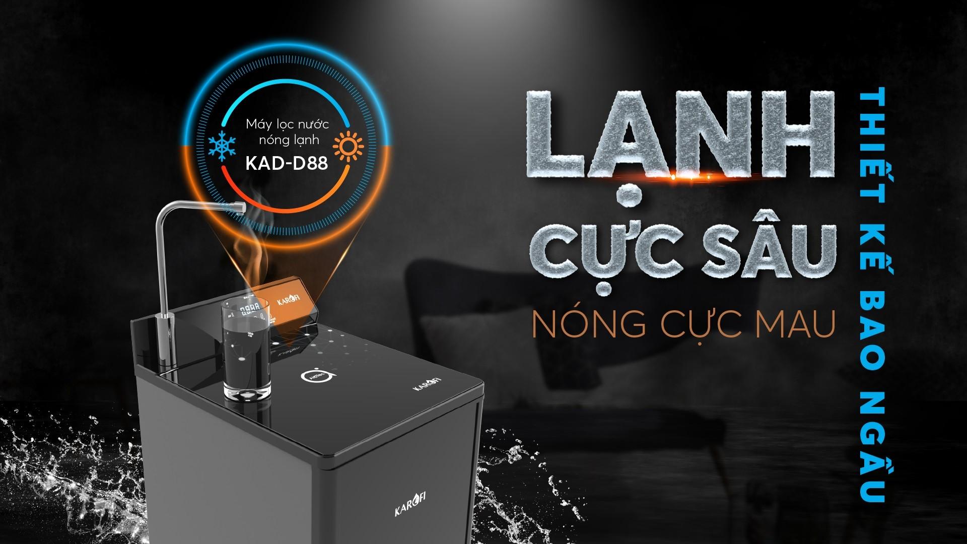 Máy lọc nước nóng lạnh Karofi KAD-D88